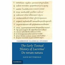 The Early Textual History Of Lucretius' De Rerum Natura (cambridge Classical ...