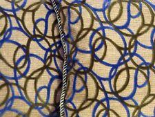 Designer Beacon Hill Throw Pillows Robert Allen fabric blue green cut velvet