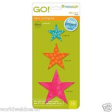"""AccuQuilt GO! & Baby Star-2"""", 3"""", 4"""" Fabric Cutting Die 55028 Quilting Sewing"""