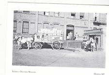 "*Postcard-""Nabisco Delivery Wagon""-Loading Dock/Nat'l Bisquit Co*Helena MT(#100)"