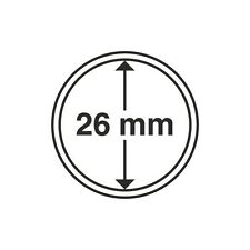 Lot de 100 capsules rondes 26mm pour les pièces de 2 euros,