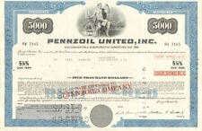 Pennzoil United > $5,000 bond certificate > oil brand collectible share
