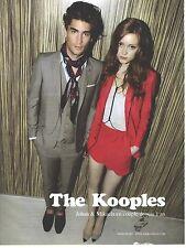 PUBLICITE  ADVERTISING 2008  THE KOOPLES Johan & Mikaela en couple depuis 1 an