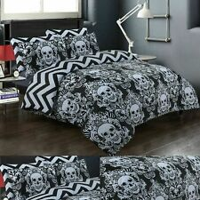 HALLOWEEN BAROQUE SKULL DUVET COVER 100% COTTON DOUBLE KING SIZE BEDDING SETS