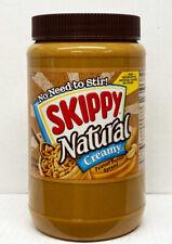 Skippy Natural Creamy No Stir Peanut Butter 48oz BB 06/2021 - LARGE Jar