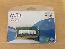 2x Laptop RAM Sticks, Hynix HYMP564S64CP6-Y5 512 MB, PC2-5300 DDR2 RAM, 667 MHz