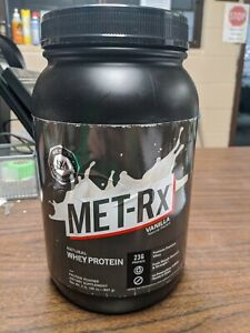 MET-Rx Protein Plus Powder, Vanilla, 2 lb, Complete Blend, 43g of and 3 g L-Glut