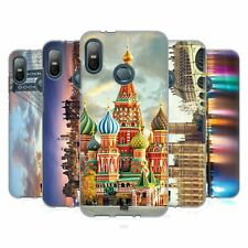 HEAD CASE DESIGNS CITY SKYLINES SOFT GEL CASE FOR HTC PHONES 1