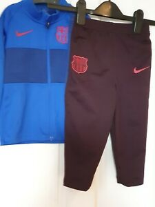 TODDLER BOYS BLUE BARCELONA  NIKE TRACKSUIT AGE 1/5 TO 2YRS