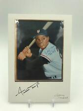 Beautiful Willie Mays & Gary Dvorak Signed Photo Topps Baseball Artist JSA COA