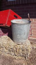 Old Vintage Metal Tin Can Industrial Galvenized Trash Waste Pail Rusty Steampunk