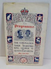 Programme Coronation of Their Majesties King George VI & Queen Elizabeth 5/12/37