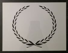 "Cadillac Leaf Leaves Wreath Border 8.5"" x 11"" Custom Stencil FAST FREE SHIPPING"