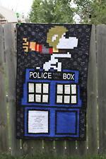 Peanuts Doctor Who Lap Quilt Sopwith Tardis Lap Quilt
