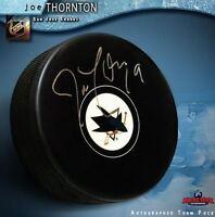 JOE THORNTON Signed San Jose Sharks Puck