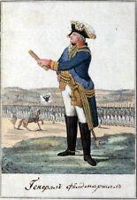 Generale dell'esercito russo 1793 FIELD MARSHALL Impero Soldato Russia 7x5 pollici stampa