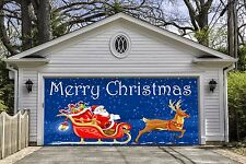 Christmas Santa Garage Door Covers Banners Outside Art Home Decor Billboard GD41