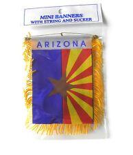 ARIZONA MINI POLYESTER US STATE FLAG BANNER 3 X 5 INCHES