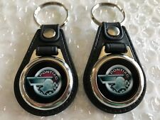 Pontiac Indian Chief Head keychain set 2 pack