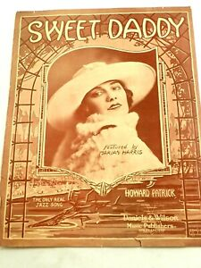 Sweet Daddy by Howard Patrick Piano Sheet Music 1917