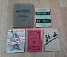 5x Wörterbücher aus der Besatzungszeit 1945/46 * Deutschland Soldaten Wehrmacht
