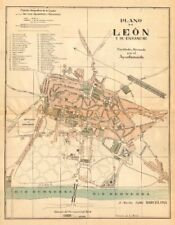 LEON León. Plano antiguo de la cuidad. Antique town/city plan. MARTIN c1911 map