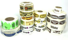 16 Rolls Bakery Food Packaging Retail Stickers Labels Grocery Bread Fruit Cake