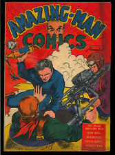 Amazing-Man Comics #7 Unrestored Early Golden Age Centaur Comic 1939 Gd+