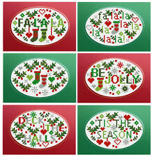 JOLLY Holly NATALE set 6 riverdrift NATALE CARDS contato CROSS STITCH KIT