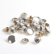 10 x Silver Wood To Fabric Press Studs Boat Cover Canvas to Deck Snaps Fastener