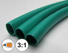"(1 FOOT) 1/4"" Green Heat Shrink Tube 3:1 Dual Wall Adhesive Glue Marine/to 0.25"""