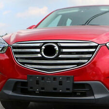 FIT FOR 2015 2016 MAZDA CX-5 CHROME FRONT MESH GRILLE GRILL COVER TRIM MOLDING