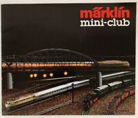 Catalogue Vintage « Märklin Mini-Club. 1982 Very Good Condition