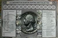 """U.S. Washington Quarter Hunting and Collecting  11"""" x 17"""" Coin Roll Sorting Mat"""