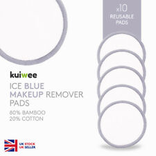 Reusable Bamboo Cotton Makeup Remover Pads - Ice Blue - Washable (PACK OF 10)