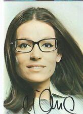 carte postale dédicacée Nana Mouskouri