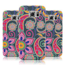 MULTICOLOUR EXOTIC PAISLEY PATTERN GREY CASE FOR SAMSUNG GALAXY MOBILE PHONES