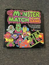 Colorforms Monster Match Memory Game From 1987