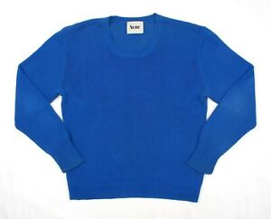 ACNE APPALOOSA Men's Crew Neck Cotton Long Sleeve Knit Jumper Sweater S Small