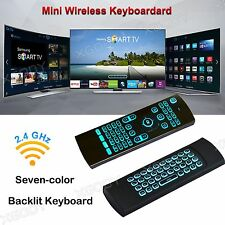 XGODY Mini Fly Air Mouse 2.4G Wifi Wireless Remote Seven-color Backlit Keyboard