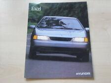 54142) Hyundai Pony Excel engl. Prospekt 199?