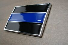 (1) THIN BLUE LINE POLICE 3D EMBLEM STICKER BADGE LOGO DECAL FOR CARS