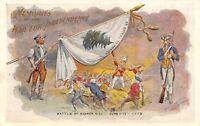 Patriotic~Battle of Bunker Hill~War for Independence Flag~Gold Leaf Emboss~1907