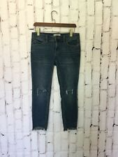 Free People Womens Jeans Size 27 Denim Skinny Ripped Knees Frayed Ankle Hem