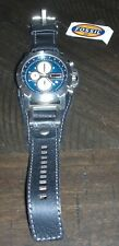 Fossil Chronograph Black Leather Mens Watch - JR1156 -NEEDS BATTERY -New w/ Tags