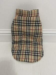 Burberry Print Small Dog Jacket - Size Large For Small Breeds - Adult Pug