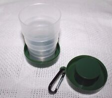 NEW Plastic Collapsible Portable Telescopic Travel Folding Cup Green 7 Ounce