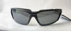 Panama Jack Polarized Sunglasses Wrap Semi-Rimless Black Frames 100% UVA/B
