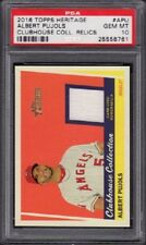 2016 Albert Pujols Topps Heritage Clubhouse Collection Relics Graded PSA 10 Gem