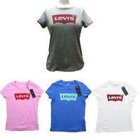 Levi's Womens Bat Wing Short Sleeve Red Tab Cotton T Shirt Logo Tee Shirt